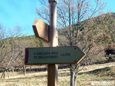 Cascadas Purgatorio;Bosque de Finlandia;cueva valiente turismo sierra de madrid monasterio de paular